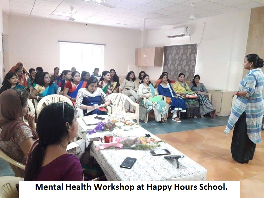 MENTAL HEALTH WORKSHOP AT HAPPY HOURS on 19th JULY 2018