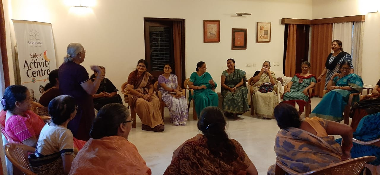 MANAM counseling session with the elderly at Silverage foundation, Bhubaneswar.